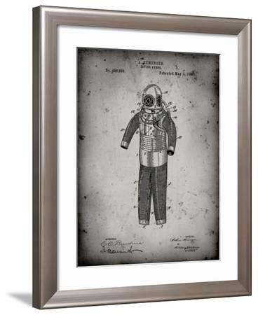 PP343-Faded Grey Hemenger Diving Armor Poster-Cole Borders-Framed Giclee Print