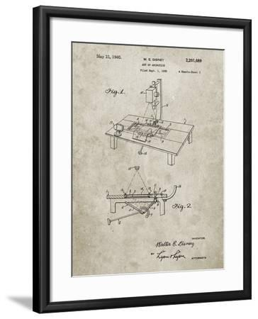 PP403-Sandstone Disney Multi Plane Camera Patent Poster-Cole Borders-Framed Giclee Print