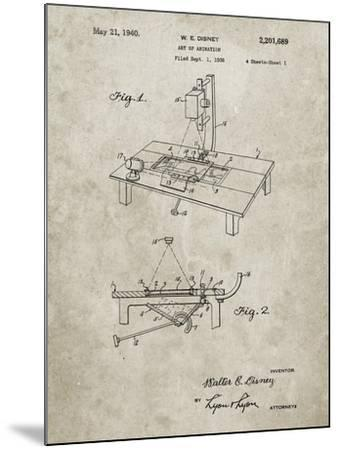 PP403-Sandstone Disney Multi Plane Camera Patent Poster-Cole Borders-Mounted Giclee Print