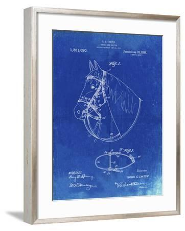 PP338-Faded Blueprint Bridle and Halter Patent Poster-Cole Borders-Framed Giclee Print