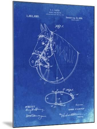 PP338-Faded Blueprint Bridle and Halter Patent Poster-Cole Borders-Mounted Giclee Print