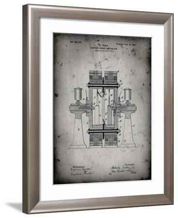 PP423-Faded Grey Tesla Electric Circuit Controller Poster-Cole Borders-Framed Giclee Print