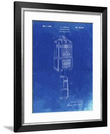 PP347-Faded Blueprint Jukebox Patent Poster-Cole Borders-Framed Giclee Print