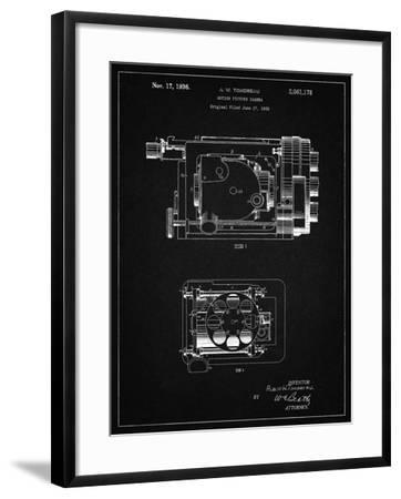 PP390-Vintage Black Motion Picture Camera 1932 Patent Poster-Cole Borders-Framed Giclee Print