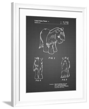 PP398-Black Grid My Little Pony Patent Poster-Cole Borders-Framed Giclee Print