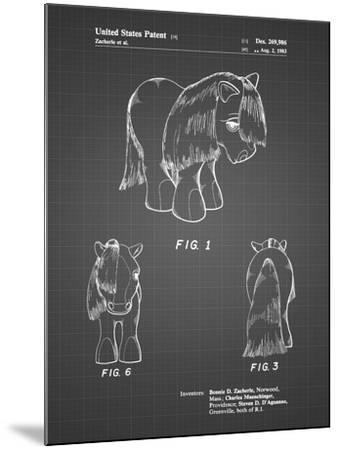 PP398-Black Grid My Little Pony Patent Poster-Cole Borders-Mounted Giclee Print