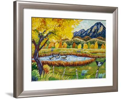Magpie Morning-Harriet Peck Taylor-Framed Giclee Print