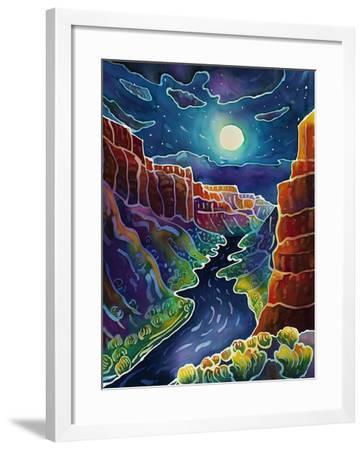 Moonlit Canyon-Harriet Peck Taylor-Framed Giclee Print