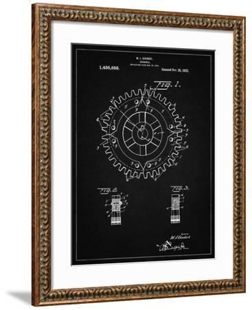 PP526-Vintage Black Cogwheel 1922 Patent Poster-Cole Borders-Framed Giclee Print