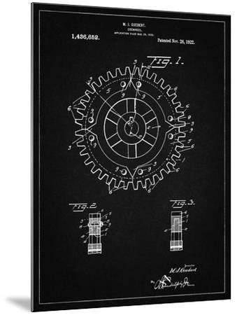 PP526-Vintage Black Cogwheel 1922 Patent Poster-Cole Borders-Mounted Giclee Print