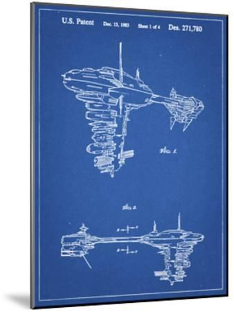PP529-Blueprint Star Wars Redemption Ship Patent Poster-Cole Borders-Mounted Giclee Print