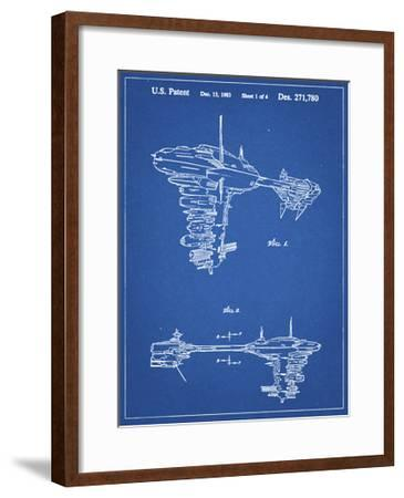 PP529-Blueprint Star Wars Redemption Ship Patent Poster-Cole Borders-Framed Giclee Print