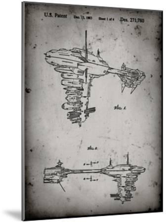 PP529-Faded Grey Star Wars Redemption Ship Patent Poster-Cole Borders-Mounted Giclee Print