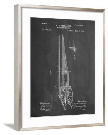 PP513-Chalkboard The Ostrander Shotgun Patent Poster-Cole Borders-Framed Giclee Print