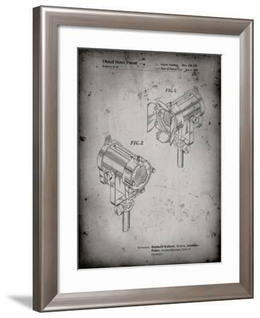 PP495-Faded Grey Stage Lights Patent Poster-Cole Borders-Framed Giclee Print