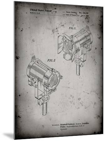 PP495-Faded Grey Stage Lights Patent Poster-Cole Borders-Mounted Giclee Print