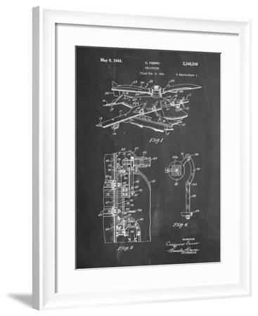 PP500-Chalkboard Early Helicopter Patent Poster-Cole Borders-Framed Giclee Print