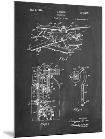 PP500-Chalkboard Early Helicopter Patent Poster-Cole Borders-Mounted Giclee Print