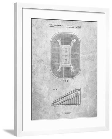 PP453-Slate Retractable Arena Seating Patent Poster-Cole Borders-Framed Giclee Print