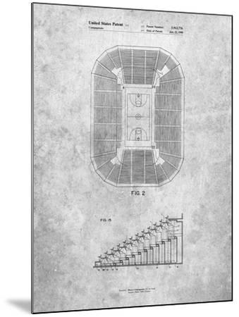 PP453-Slate Retractable Arena Seating Patent Poster-Cole Borders-Mounted Giclee Print