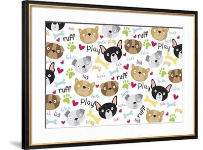 Pet Life dog pattern-Holli Conger-Framed Giclee Print