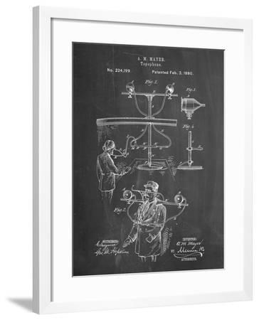 PP642-Chalkboard Bowling Pin 1967 Patent Poster-Cole Borders-Framed Giclee Print