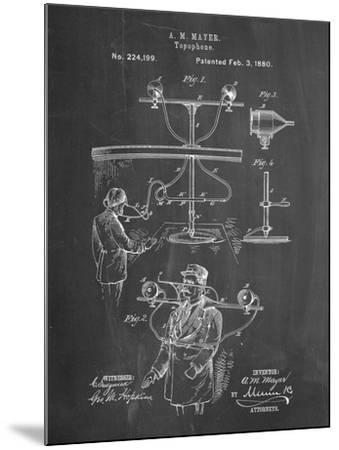 PP642-Chalkboard Bowling Pin 1967 Patent Poster-Cole Borders-Mounted Giclee Print