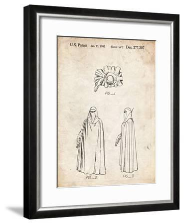 PP598-Vintage Parchment Star Wars Imperial Guard Patent Poster-Cole Borders-Framed Giclee Print