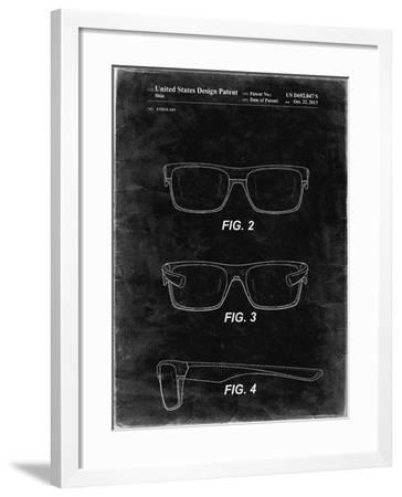 PP640-Black Grunge Two Face Prizm Oakley Sunglasses Patent Poster-Cole Borders-Framed Giclee Print