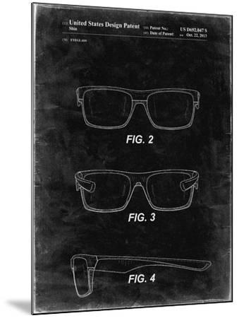 PP640-Black Grunge Two Face Prizm Oakley Sunglasses Patent Poster-Cole Borders-Mounted Giclee Print