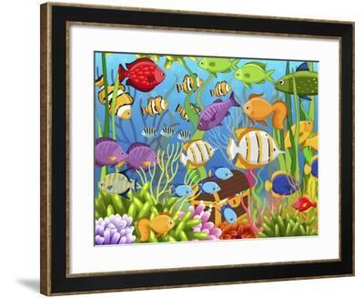 Colorful Sea Life-Jean Plout-Framed Giclee Print