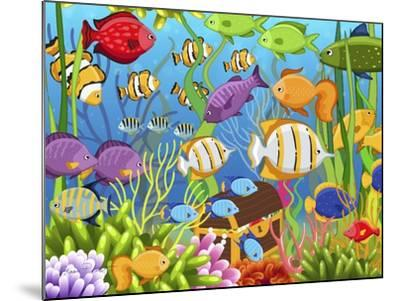 Colorful Sea Life-Jean Plout-Mounted Giclee Print