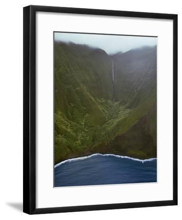 Waterfall Deep In Valley-Jason Matias-Framed Giclee Print