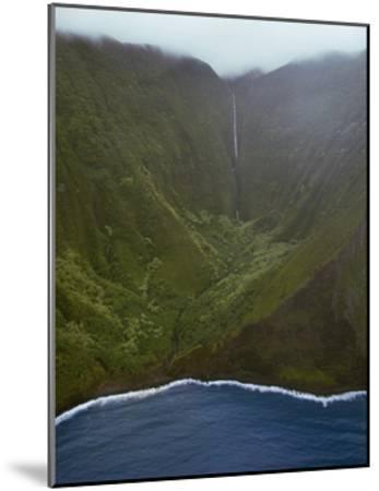 Waterfall Deep In Valley-Jason Matias-Mounted Giclee Print