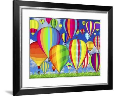Hot Air Balloons-Jean Plout-Framed Giclee Print