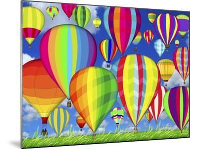 Hot Air Balloons-Jean Plout-Mounted Giclee Print