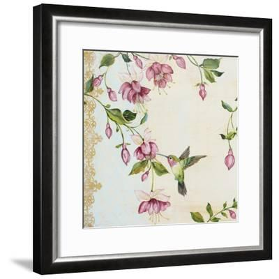 Rubys Among The Fushias-A-Jean Plout-Framed Giclee Print