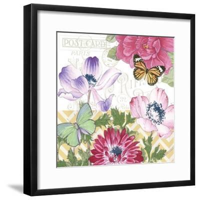 JP2278-Summer Postcard-A-Jean Plout-Framed Giclee Print