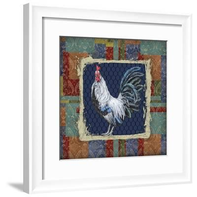Damask Rooster-Q-Jean Plout-Framed Giclee Print