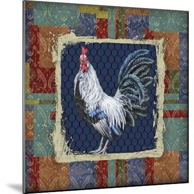 Damask Rooster-Q-Jean Plout-Mounted Giclee Print