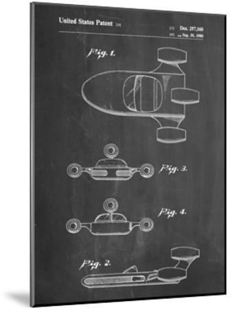 PP673-Chalkboard Star Wars Landspeeder Patent Poster-Cole Borders-Mounted Giclee Print