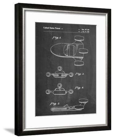 PP673-Chalkboard Star Wars Landspeeder Patent Poster-Cole Borders-Framed Giclee Print