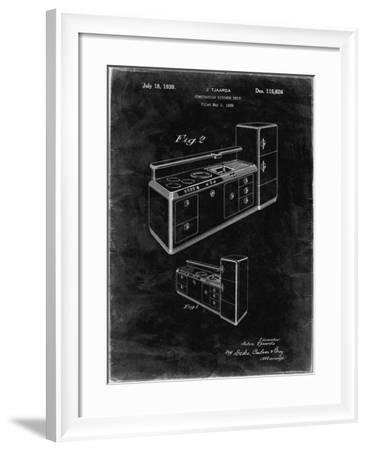 PP659-Black Grunge Kitchen Cabinets Poster-Cole Borders-Framed Giclee Print