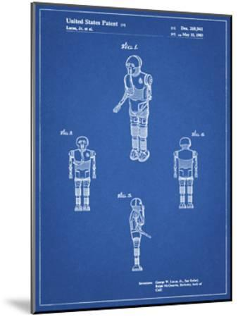 PP691-Blueprint Star Wars Medical Droid Patent Poster-Cole Borders-Mounted Giclee Print