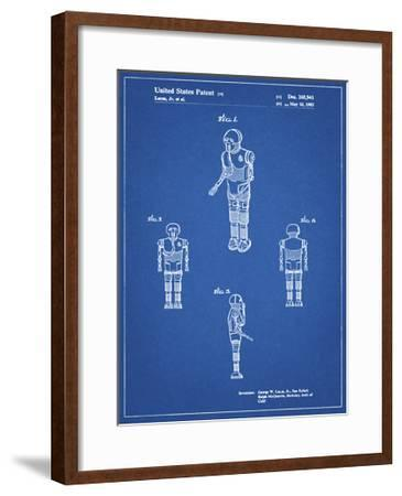 PP691-Blueprint Star Wars Medical Droid Patent Poster-Cole Borders-Framed Giclee Print