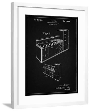 PP659-Vintage Black Kitchen Cabinets Poster-Cole Borders-Framed Giclee Print