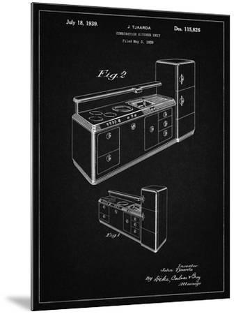 PP659-Vintage Black Kitchen Cabinets Poster-Cole Borders-Mounted Giclee Print