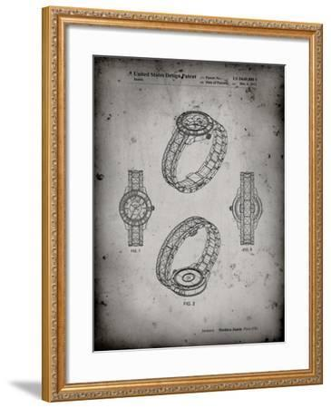 PP651-Faded Grey Luxury Watch Patent Poster-Cole Borders-Framed Giclee Print