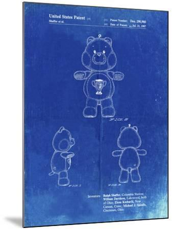 PP676-Faded Blueprint Champ Care Bear Poster-Cole Borders-Mounted Giclee Print
