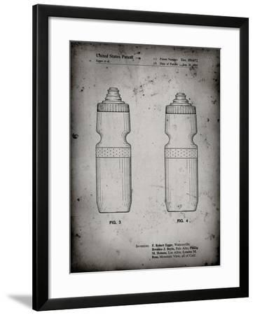 PP669-Faded Grey Cycling Water Bottle Patent Poster-Cole Borders-Framed Giclee Print